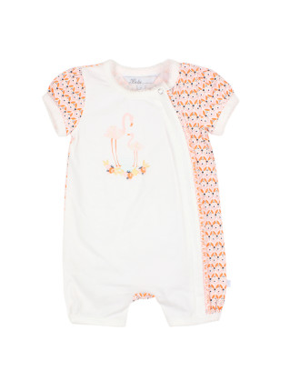 Girls Nora S/S Zip Romper (0-9M)