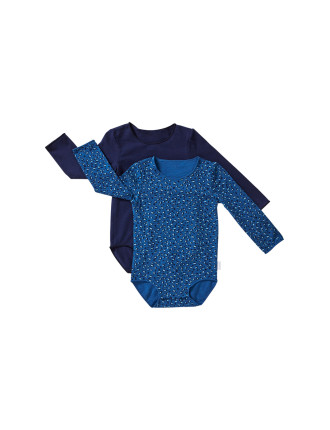 Girls 2pk L/S Bodysuit (0000 - 2)
