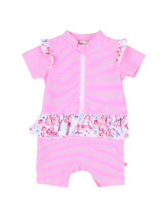 Girls Ivy S/S Zip Sunsuit (6 - 24M)
