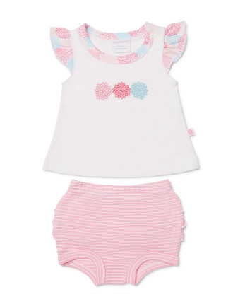 Girls Posie Frilled Top + Bloomer Set (0000 - 1)