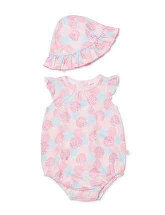 Girls Posie Bodysuit + Sun Hat (0000 - 1)