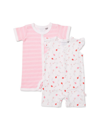Girls 2pk Kites Romper (0000- 0)