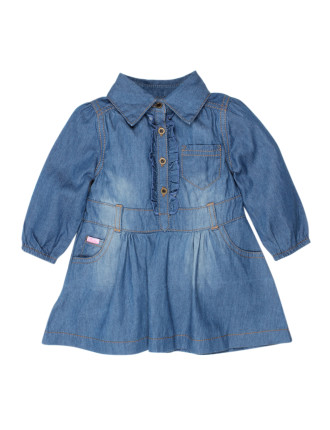 Ebony L/S Denim Dress
