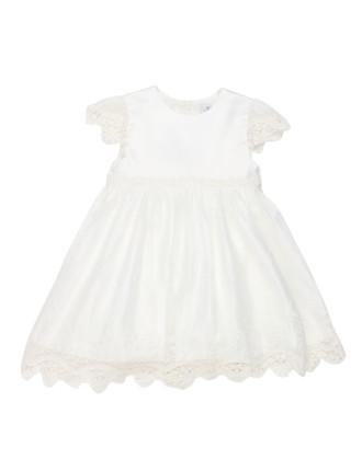 S/O S/S Lace Trim Dress