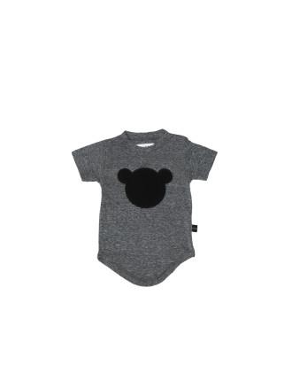 Hux Bear Applique Drop Back T-Shirt
