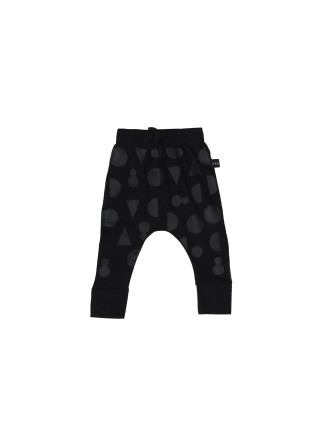 Shapes Black On Black Drop Crotch Pants