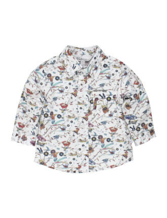 Liberty Print Boys L/S Shirt