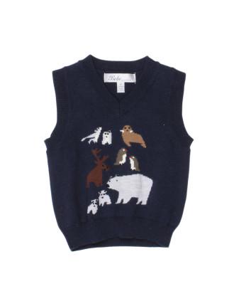 Harry Novelty Knit Vest