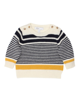 Boys Mac Multi Stripe Jumper