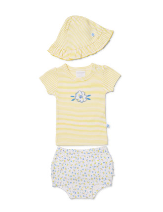 GIDGET TOP, BLOOMER + SUNHAT SET (0000 - 1)