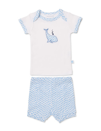 BASIC WHALE TSHIRT + BLOOMER SET (0000 - 1)