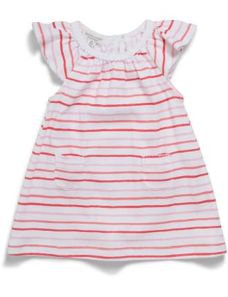 GIRLS PAINTERLY DRESS (000 - 0)