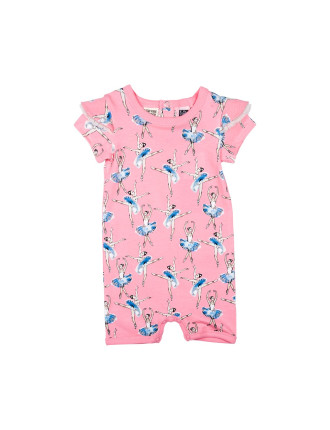 BASQUE SHORT SLEEVE PLAYSUIT (3M - 24M)