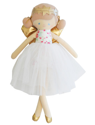 WILLOW FAIRY DOLL 48CM PINK ROSES