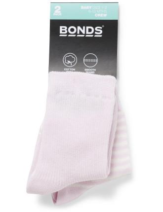 Bonds Baby Classics Crew 2pk