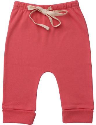 Girls Cotton Drawstring Pants Plain