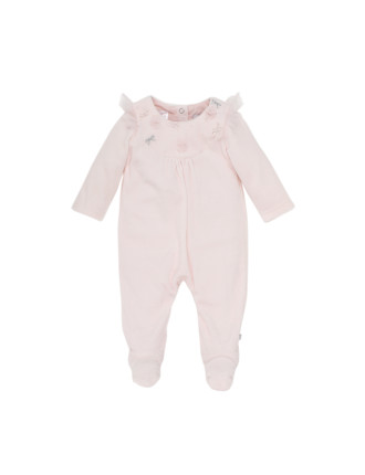 Annie Long Sleeve Velour Romper (Newborn-9months)