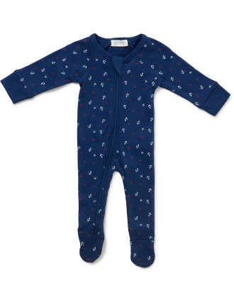 Anchors Away Long Sleeve Romper (Newborn-9months)