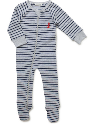 Anchor Placement Long Sleeve Romper (Newborn-9months)