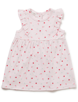 Winter Fruits Short Sleeve Dress (3-9months)