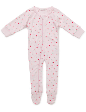 Winter Fruits Long Sleeve Romper (Newborn-9months)