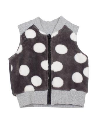 Big Dot Fleece Vest (9months-2years)