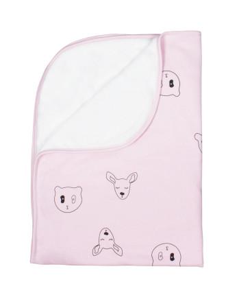 Oh Deer Reversible Plush Blanket