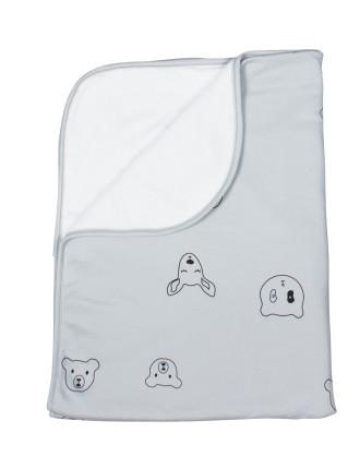 Panda Reversible Plush Blanket