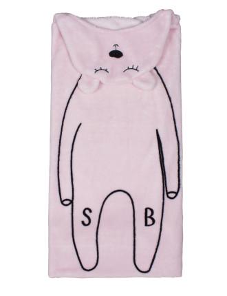 Oh Deer Character Hooded Cuddles Blanket