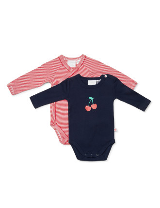 Cherry Pie 2pk Bodysuit (Newborn-1year)