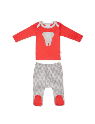 Out of Africa Top & Legging (Newborn-1year)