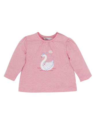 Tessa Long Sleeve Swan Stripe Tee (3-24months)