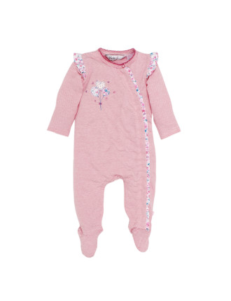 Melita Long Sleeve Zip Romper (Newborn-9months)