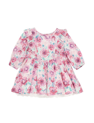 Melita Long Sleeve Print Dress (3-24months)