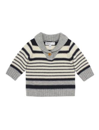 Charlie Stripe Jumper with Collar (6-24months)