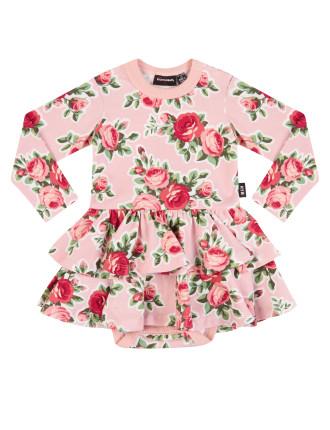 Rose Garden Long Sleeve Dress (6months-2years)