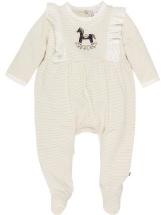 Claire Long Sleeve Frill Romper (Newborn-9months)