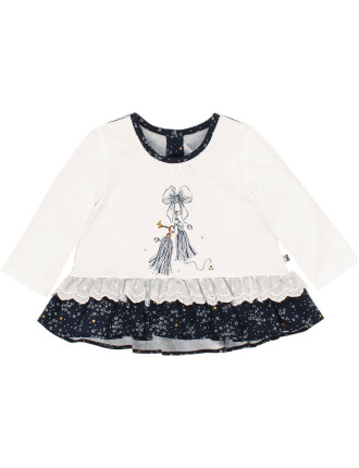 Claire Long Sleeve Mix Charm Tee (3-24months)