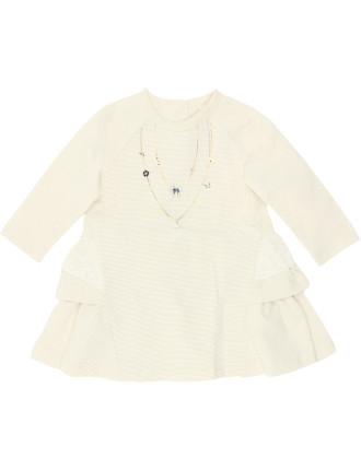 Claire Long Sleeve Dress with Lace (3-24months)