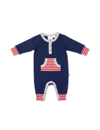 Footless Studsuit With Front Pocket
