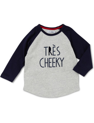 Tres Cheeky' Long Sleeve Raglan Tee