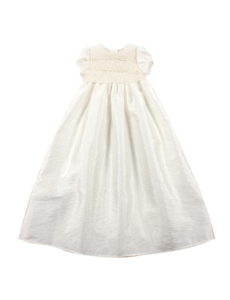 Long Lace & Taffeta Dress