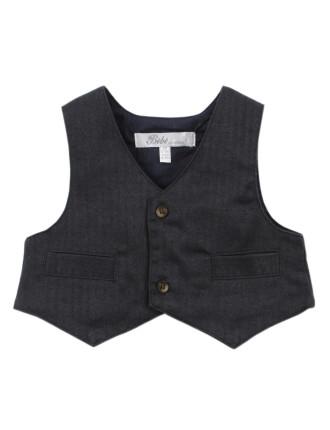Archie Herringbone Woven Vest