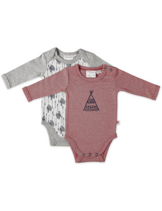 Indian Chief 2pk Bodysuits