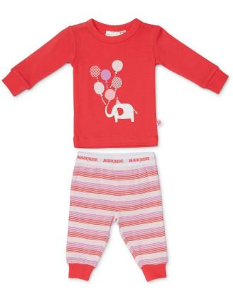Pyjama Elephant With Balloons