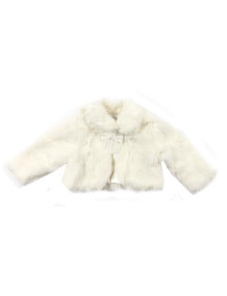 Fur Jacket W Bow