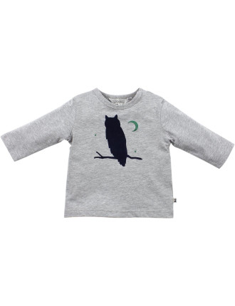 Finn L/S Owl Tee