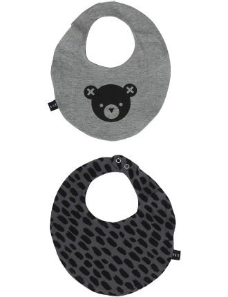 Hux Bear/Big Cat Reversible Bib