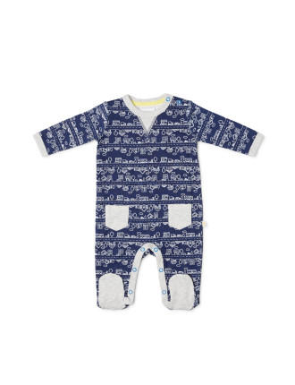 Marq Footed Studsuit