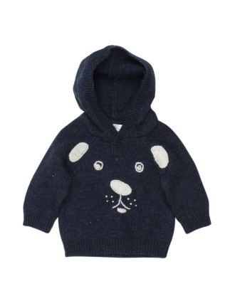 Bebe River Hooded Bear Jumper